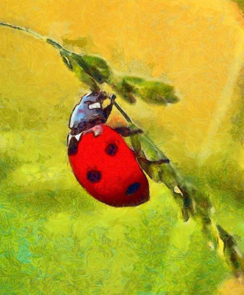 Lucky Charm Painting - Ladybug - Id 16235-220422-2633 by S Lurk