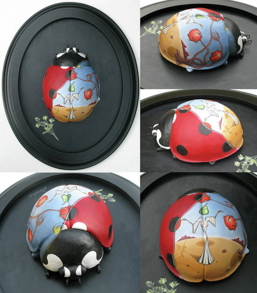 Painting - Ladybug On The Half Shell by Paxton Mobley