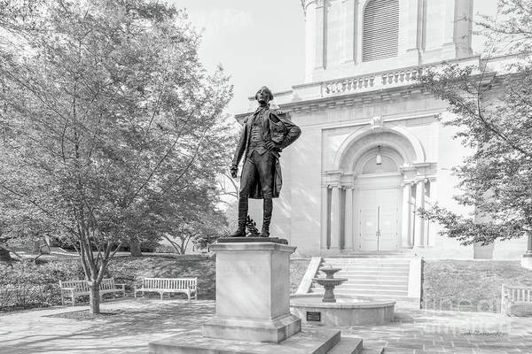 Lehigh University Wall Art - Photograph - Lafayette College Marquis De Lafayette Statue by University Icons