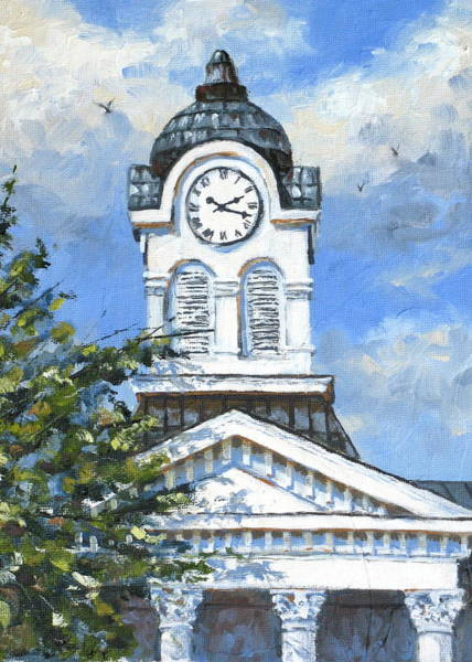 Courthouse Painting - Lafayette County Courthouse by Carolyn Watson