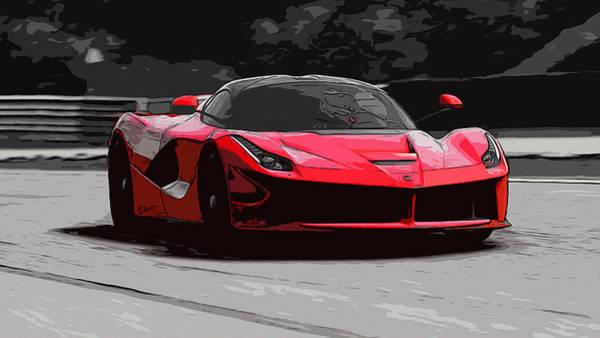 La Ferrari Art Print by Andrea Mazzocchetti