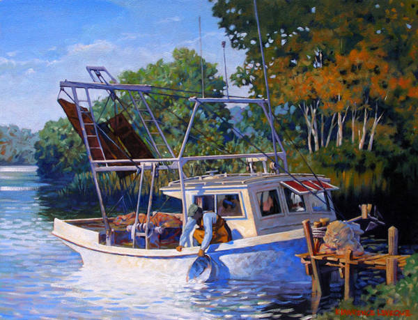 Wall Art - Painting - Lafitte Skiff by Kevin Lawrence Leveque