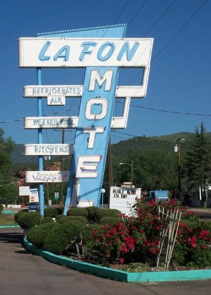 Photograph - Lafon Motel by Anita Burgermeister