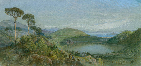 Wall Art - Painting - Lago Avernus by William Trost Richards
