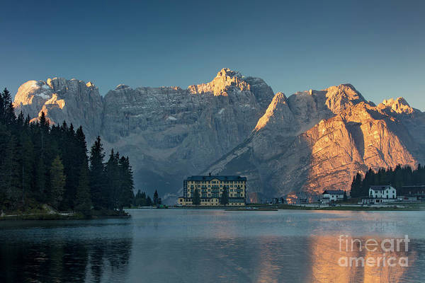 Pio Photograph - Lago Misurina Sunrise by Brian Jannsen