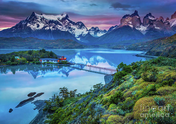 Andes Photograph - Lago Pehoe - March by Inge Johnsson