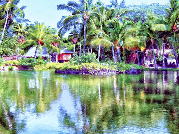 Painting - Lagoon At Kona Village - Big Island by Dominic Piperata