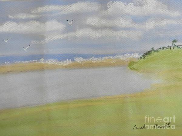 Wall Art - Painting - Lagoon In Wollongong by Pamela Meredith