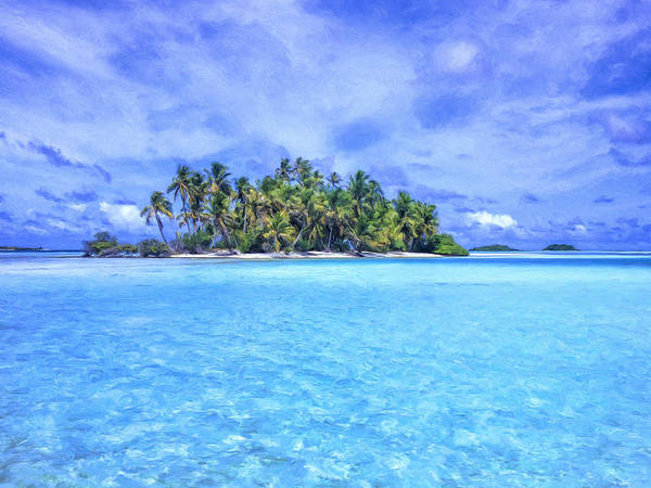 Painting - Lagoon Islands At Rangiroa by Dominic Piperata