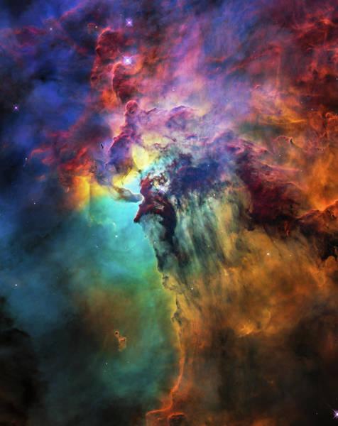 Photograph - Lagoon Nebula Hubble Space Telescope Image by NASA Image Edit M Hauser