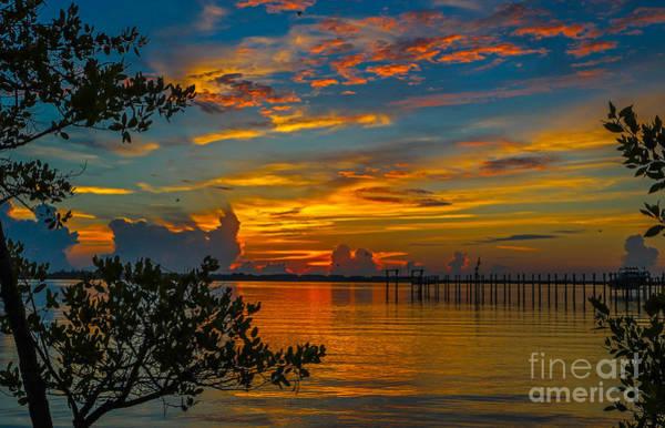 Photograph - Lagoon Sunrise by Tom Claud