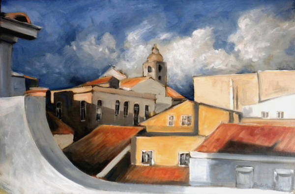 Lagos Painting - Lagos From A Terrace by Paula Strother
