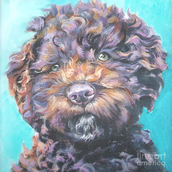 Wall Art - Painting - Lagotto Romagnolo by Lee Ann Shepard