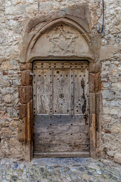 Ancient Architecture Photograph - Lagrasse Door Number 3 by W Chris Fooshee