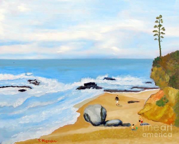 Laguna Beach Painting - Laguna Beach At Montage Resorts by Thi Nguyen