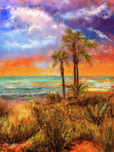 Wall Art - Painting - Laguna Beach At Sunset by Lourry Legarde