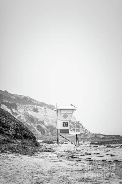 Crystal Coast Photograph - Laguna Beach Crystal Cove Lifeguard Tower #11 by Paul Velgos