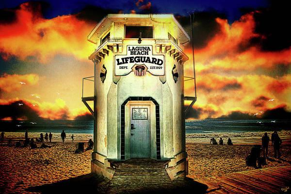 Laguna Beach Lifeguard Hq Art Print