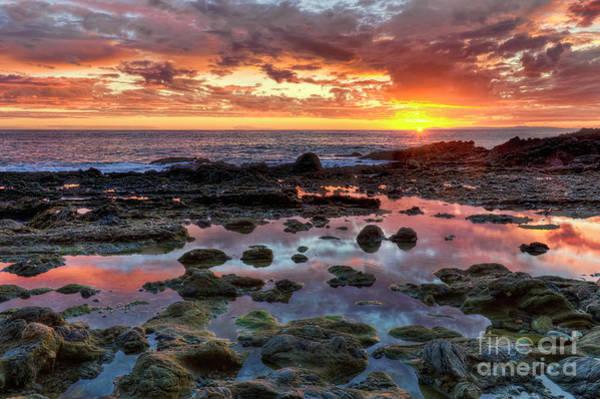 Photograph - Laguna Beach Tidepools At Sunset by Eddie Yerkish