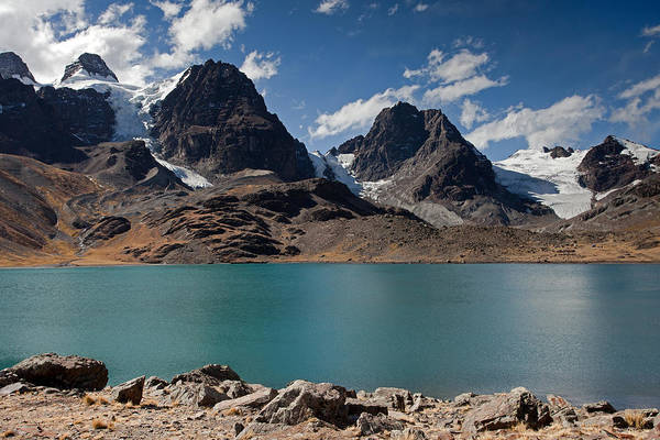 Laguna Chiar Khota In Condoriri Mountains Art Print