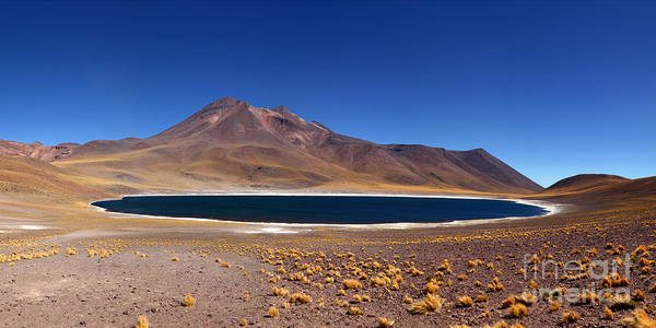 Photograph - Laguna Miniques And Miniques Volcano Chile by James Brunker