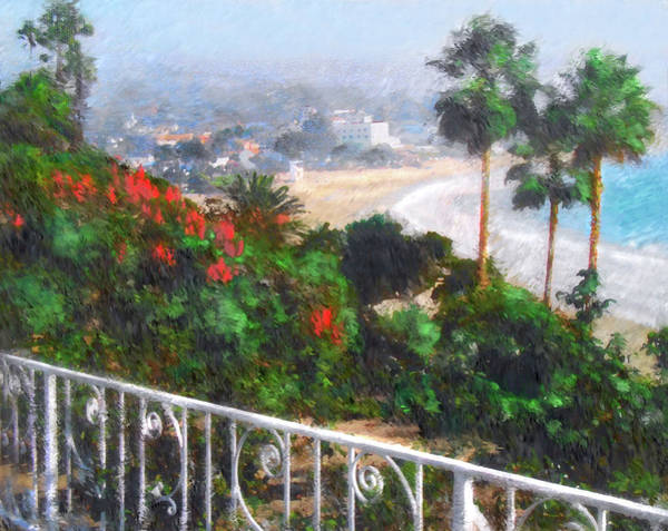 Laguna Beach Mixed Media - Laguna Morning Mist by John Loyd Rushing