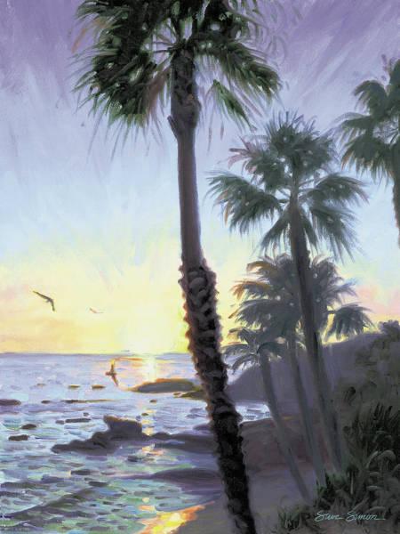 Wall Art - Painting - Laguna Sunset by Steve Simon