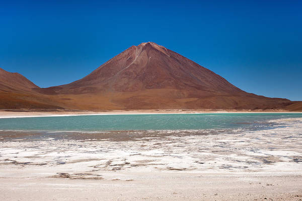 Photograph - Laguna Verde And Licancabur by Aivar Mikko