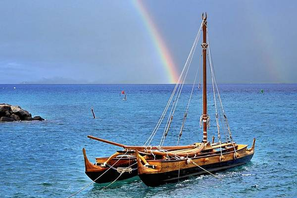 Outrigger Canoe Photograph - Lahaina Harbor by DJ Florek