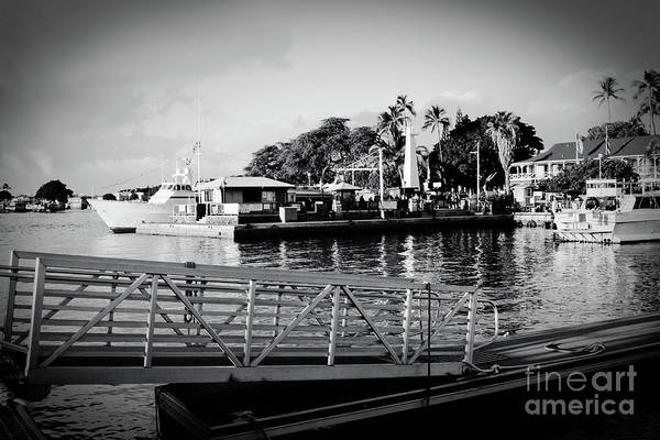 Photograph - Lahaina Marina In Monochrome by Sharon Mau