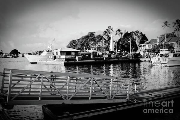Photograph - Lahaina Marina In Monochrome by Sharon Mau