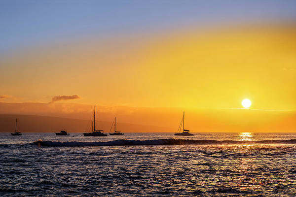 King Harbor Photograph - Lahaina Sunset by Kelley King