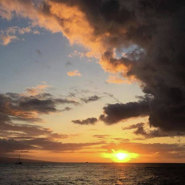 Lahaina Sunset! Love Friday Nights! Art Print
