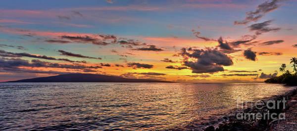 Photograph - Lahaina Sunset Panorama by Eddie Yerkish