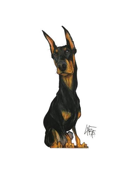Pet Portrait Drawing - Lainhart 3200 by John LaFree