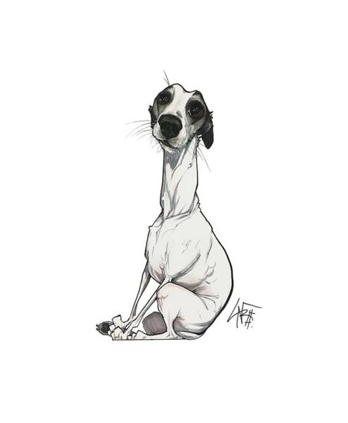 Pet Portrait Drawing - Lainhart 3201 by John LaFree