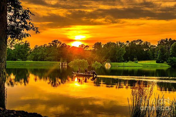 Photograph - Lake Alloway Sunset by Nick Zelinsky