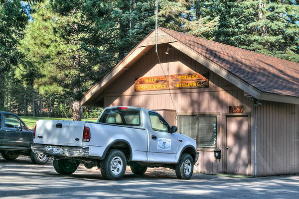 Photograph - Lake Almanor West Maintenance Bldg by Jan Davies