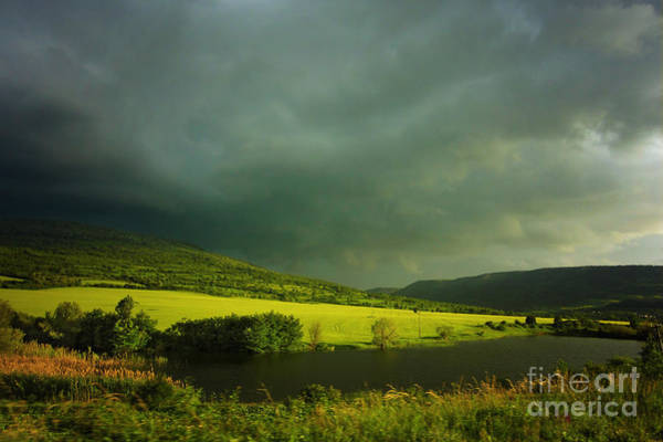 Photograph - Lake And Green Fields by Dimitar Hristov