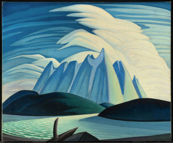 Wall Art - Painting - Lake And Mountains by Lawren Harris