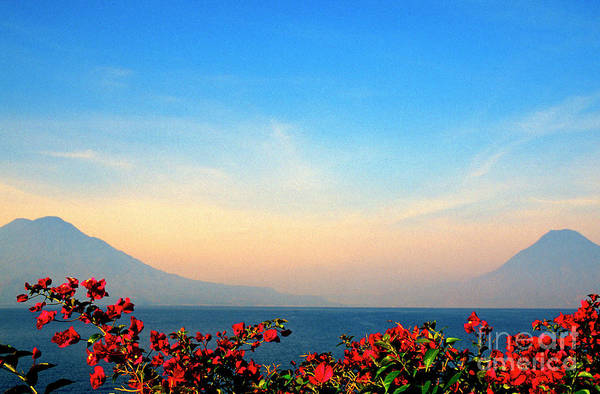 Photograph - Lake Atitlan And Bougainvilla by Thomas R Fletcher