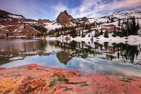 June Lake Photograph - Lake Blanche Reflection by Johnny Adolphson