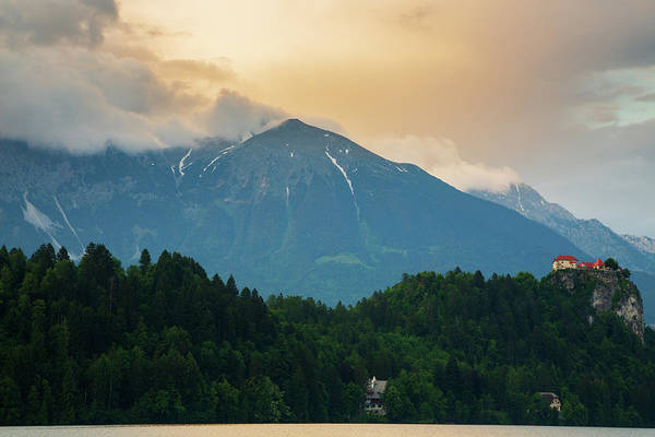 Wall Art - Photograph - Lake Bled And Castle by Ian Middleton