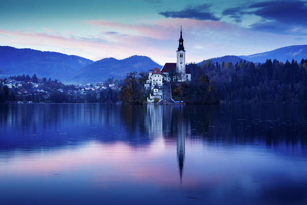 Wall Art - Photograph - Lake Bled And The Island Church by Ian Middleton