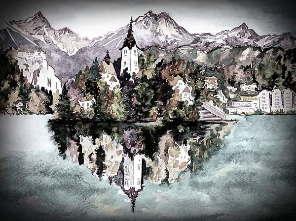 Digital Art - Lake Bled - Bled, Slovenia by Joseph Hendrix