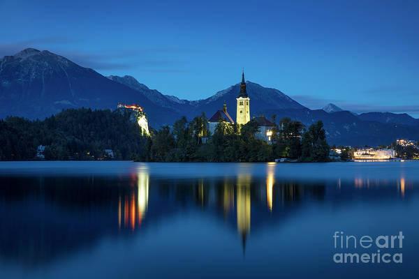Wall Art - Photograph - Lake Bled Twilight by Brian Jannsen