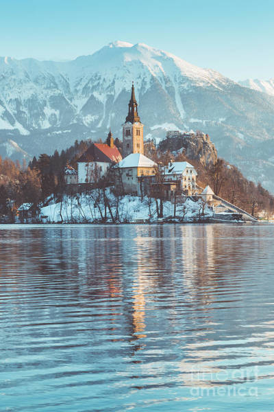 Wall Art - Photograph - Lake Bled Winter Magic by JR Photography
