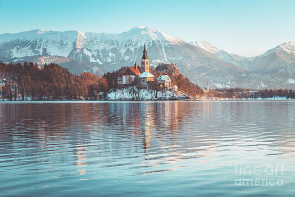 Wall Art - Photograph - Lake Bled Winter Mornings by JR Photography
