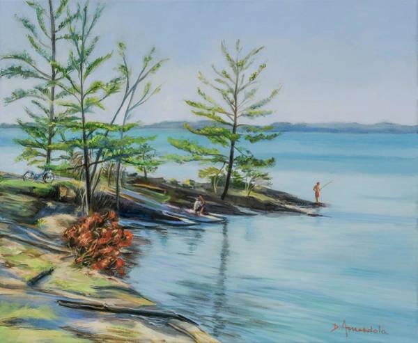 Adirondack Mountains Painting - Lake Champlain by Dominique Amendola