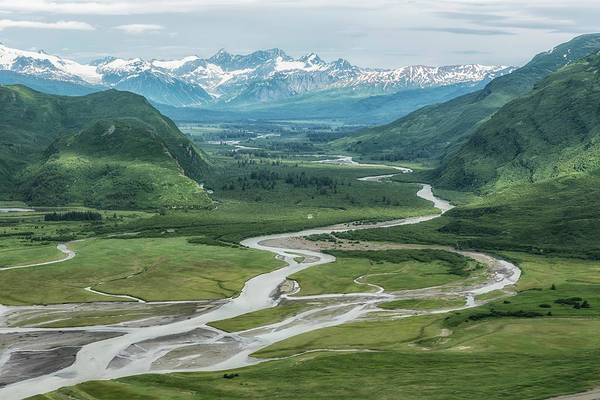 Photograph - Lake Clark Np From The Plane, No. 2 by Belinda Greb